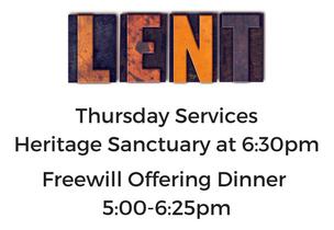 Thursday Lenten Services