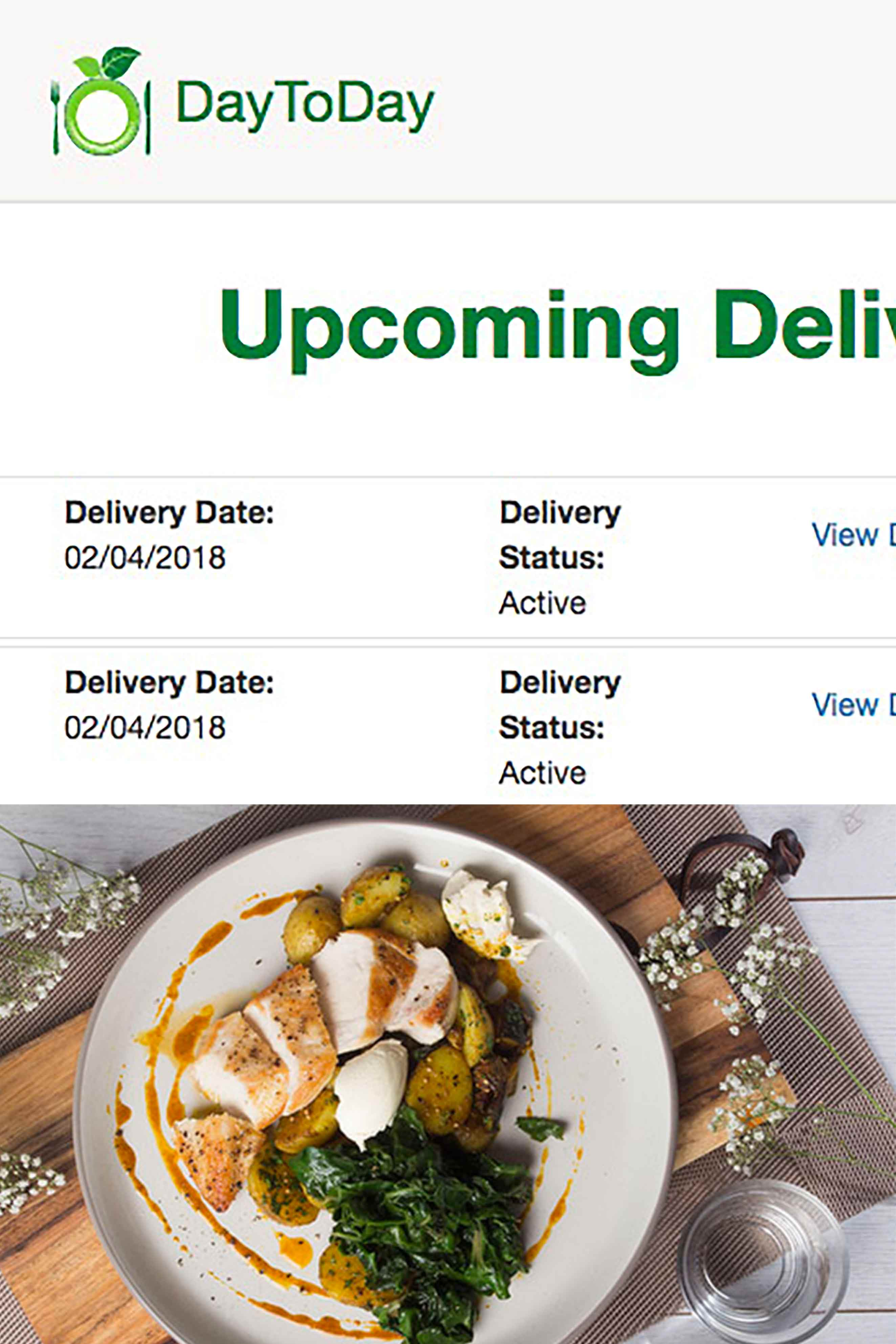 Daytoday we deliver delicious healthy easy recipes to your door easy scheduling no fixed contract forumfinder Images